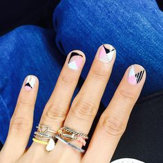 I like these nails with the hint of pink. Pretty Nail Designs, Best Nail Art Designs, Short Nail Designs, Gel Nail Designs, Korean Nail Art, Korean Nails, Solid Color Nails, Cat Eye Nails, Nail Time