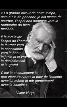 Victor Hugo ~ citation français ~ Plus Life Quotes Love, Best Quotes, Citations Victor Hugo, Quote Citation, French Quotes, Some Words, Positive Attitude, Einstein, Human Rights
