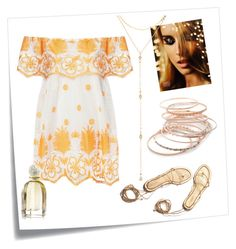 """""""Golden Hour"""" by lula-kruta ❤ liked on Polyvore featuring Post-It, Miguelina, Red Camel and Fragments"""