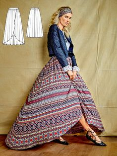 Maximum fashion drama! The sumptuous fabric isn't the only show-stopper for this maxi skirt because the wide gathered panels and the overlapping wrap style are also incredibly sensational.