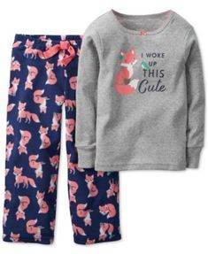 Carter's Baby Girls' 2-Piece Fox Top & Pajama Pants