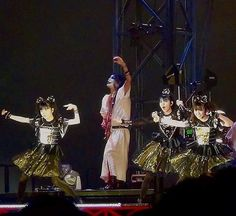 The new black & gold costumes that were worn tonight by the girls at Tokyo Dome. Do you like them?  Please visit our page for plenty more photos, videos, updates from today's BABYMETAL Tokyo Dome concert.