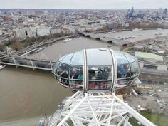A view from the London Eye to help me imagine a dragon's view over London! London Eye, Fire