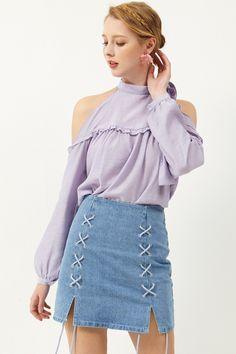 Aurora Cold Shoulder Blouse #blouse #top #coldshoulder #off-the-shoulder