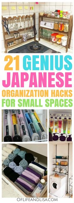 Japanese inspired organization ideas for the home or small apartments.
