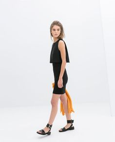 Image 1 of DRESS WITH COMBINED TOP from Zara