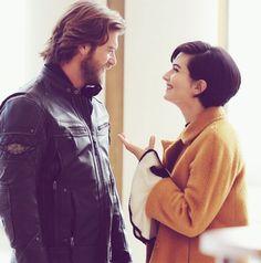 Kivanc Tatlitug and Tuba Buyukustun in the Turkish TV series CESUR ve GUZEL, 2016-2017. Great couple but I liked Tuba best with Engin Akyürek, more chemistry between them!!