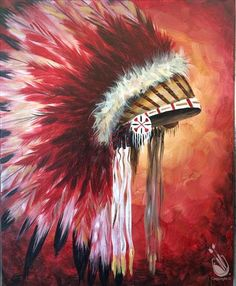 View our painting classes calendar to paint and drink wine in Painting with a Twist in College Station TX. Native American Paintings, Native American Pictures, Native American Artists, Dress Painting, Feather Painting, Painting & Drawing, Paint And Drink, Native American Headdress, Native American Children