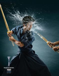 "Japanese Martial Art ""KENDO"" Outdoor Advert by JWT New York"
