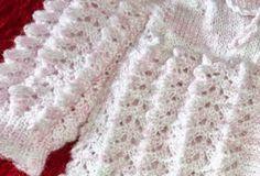 Receita de Tricô: PONTO FRUFRU EM TRICÔ                                                                                                                                                     Mais Baby Knitting Patterns, Knitting Stitches, Baby Patterns, Free Knitting, Crochet Patterns, Crochet Baby, Knit Crochet, Tricot Baby, Easy Knit Baby Blanket