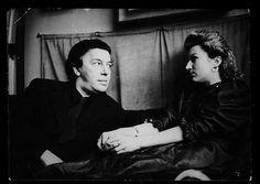 André Breton & Jacqueline Lamba, rue Fontaine, Paris.