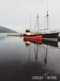 Boats in the Bay of Inveraray Scotland. $25.00, via Etsy. by Lindsay Wynne Photography