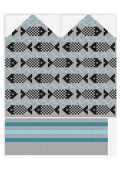 Ravelry: Frank's Underwater Fish Estonian MittensFrank's pattern by Puck Winkel - Knitting Knitted Mittens Pattern, Knit Mittens, Knitted Gloves, Knitting Socks, Knitting Charts, Knitting Stitches, Knitting Patterns, Knitting Ideas, Underwater Fish