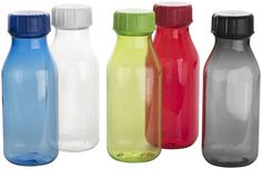 Drinking bottle with twist-on lid. Made from shatter, stain and odour resistant durable Eastman Tritan™ material. Volume capacity 590 ml.