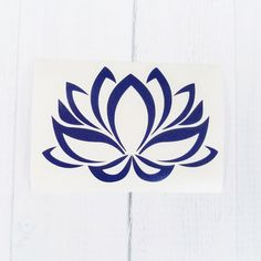 Lotus flower vinyl decal. Coffee cup decal, car decal, iPhone decal, MacBook decal, Yeti decal.  ~This listing includes 1 vinyl lotus flower decal. A perfect way to decorate your coffee cup, car, phone and more! Available in 6 fun sizes. Want a different size? The possibilities are endless, message us for customization. Drink ware should be hand washed only once decal is applied, decals are not dishwasher safe.  ~Your purchase will include: 1 lotus flower vinyl decal and easy to follow…