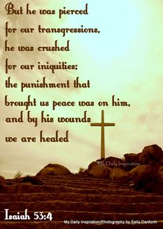 My Daily Inspiration Bible Verses: But he was pierced for our transgression