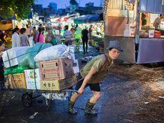 Hanoi, Vietnam - Long Bien Bridge Produce Market - The Best Street Markets From Mumbai to Marrakech - Condé Nast Traveler