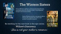 The Winters Sisters Series http://www.amazon.com/Joanne-Jaytanie/e/B00C3458YE/ref=ntt_athr_dp_pel_1