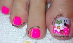 Super Cute Ideas for Summer Nail Art - Nailschick Toenail Art Designs, Pedicure Designs, Pedicure Nail Art, Toe Nail Art, Manicure, Creative Nail Designs, Colorful Nail Designs, Creative Nails, Fabulous Nails