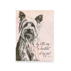 Lisa Weedn My Little Dog Wall Art - Bed Bath & Beyond ( I have a Yorkie so this was a must now I just have to figure out where to hang it up!)