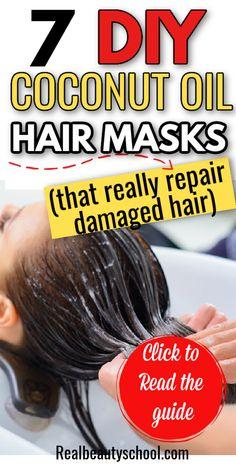 Dry Hair Ends, Hair Masks For Dry Damaged Hair, Best Hair Mask, Natural Hair Mask, Dry Hair Treatment, Hair Treatments, Coconut Oil Hair Treatment, Dry Hair Remedies, Damaged Hair Remedies