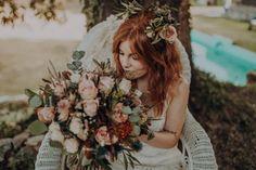 Hola a tod@s, Estilo Hippy, Crown, Hip Wedding, Floral Decorations, Wedding Bouquets, Weddings, Boyfriends, Corona, Crowns