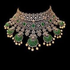 Most beautiful diamond pendant necklaces 8456 Black Diamond Necklace, Diamond Choker, Emerald Diamond, Diamond Pendant, Emerald Jewelry, Diamond Jewelry, Diamond Necklaces, Hyderabadi Jewelry, Indian Wedding Jewelry