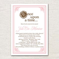 Once Upon A Time Baby Shower Invitation. $1.50, Via Etsy.