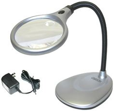 Click the image to read the reviews Carson LM-20 2X LED Illuminated Magnifier & Desk Lamp