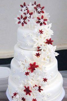 Ideas for wedding winter wonderland frozen snowflake cake Christmas Wedding Cakes, Round Wedding Cakes, Winter Wedding Cakes, Winter Cakes, Winter Weddings, Christmas Wedding Dresses, Winter Bride, Cake Wedding, Christmas Birthday
