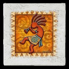 """Kokopelli Drink Coasters - Style AEDY4 by Thirstystone. $11.99. Manufactured to the Highest Quality Available.. Great Gift Idea.. Design is stylish and innovative. Satisfaction Ensured.. Ambiance coasters are like mini pieces of art for your table. Full color artwork """"framed"""" by stylish border elements from black frame to antique white, distressed tile, rustic lodge, soft swirl, and elegant gold. These absortbent coasters measure 4.25"""" and are cork-back to protect furnitur..."""