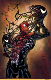 Venom - Colored by ~LadyOrange - posted under Digital Art tagged with: Cartoons & Comics, Illustration, Spiderman, Superhero, Venom by Fribly Editorial Ms Marvel, Marvel Comics, Heros Comics, Bd Comics, Marvel Heroes, Marvel Venom, Captain Marvel, Comic Book Characters, Comic Book Heroes