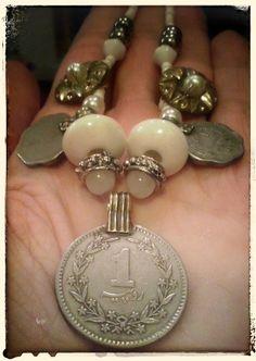 """White Treasure"" necklace by Zuzka´s Workshop"