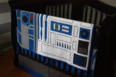 Hey, I found this really awesome Etsy listing at https://www.etsy.com/listing/186100768/star-wars-baby-bedding-r2-d2-custom-crib