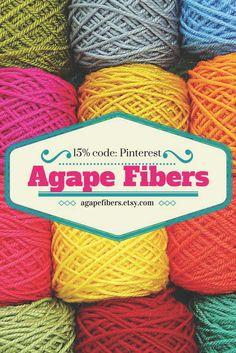 Pinterest sale @agapefibers Your supply source for Artisan fiber & yarn for knitting, crochet & spinning!