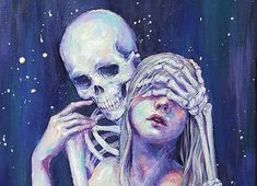 Haenuli is a fashion designer from South Korea who has been battling depression by drawing a friendly relationship between a girl and death in the form of a skeleton.