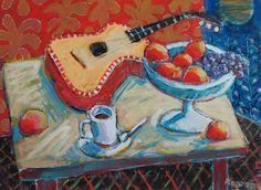 Guitar, Fruit & Coffee