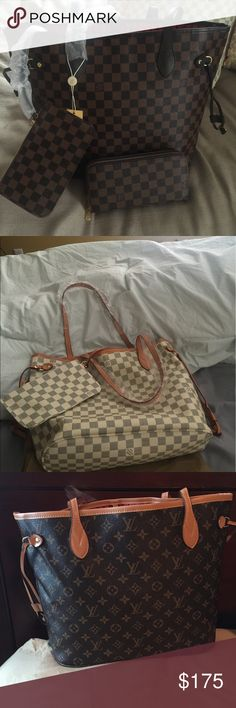 Neverfull set Please text 678-777-1155 for more pics An questions . Price is per set . Not authentic Louis Vuitton Bags