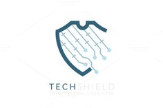 Check out Tech Shield (Logo Template) by Monsterbox Designs on Creative Market