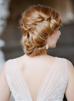 #Hair rolled chignon by http://www.katienashbeauty.com, Photography: Sylvie Gil - sylviegilphotography.com  Read More: http://stylemepretty.com/2013/10/01/parisian-inspired-photo-shoot-from-sylvie-gil/
