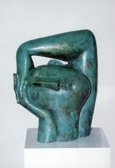 """Head in hands"" by Peter Harskamp, Sculptor, Painter - bronze - Dutch - Academy of Visual Arts, Rotterdam"