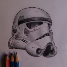3D Stormtrooper Helmet Tattoo Design