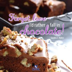 We LOVE baking with Chocolate! What chocolate goodies you have eaten today? The Joy Of Baking, Bobs, Goodies, Chocolate, Eat, Funny, Desserts, Sweet Like Candy, Tailgate Desserts
