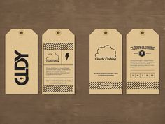 Cloudy Clothing hang tags By Jordan Mahaffey