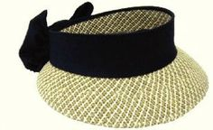 ff04dc6fb6346 Kate Lord Toyo Ladies Golf Straw Visors with Black Sash and Bow