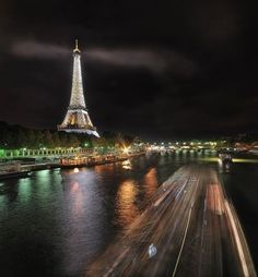 eiffel tower. by cristina
