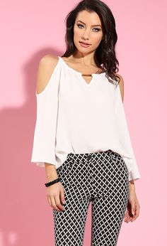 Open-Shoulder Keyhole Top