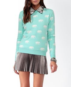 Ditsy Elephant Sweater - this needs to be in my closet