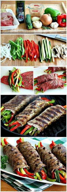 Balsamic Glazed Steak Rolls  #HealthyEating #CleanEating  #ShermanFinancialGroup