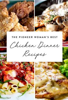 "Save these 13 fabulous chicken recipes from Ree Drummond, aka ""The Pioneer Woman."""